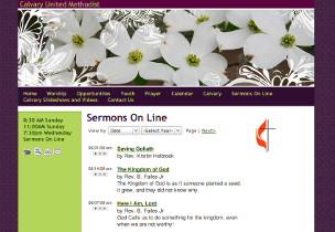 View the Sermons Online page from Calvary United Methodist Church