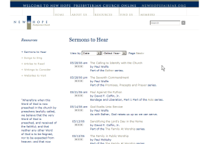 View the Sermons Online page from New Hope Fairfax